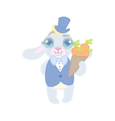 Bunny Dressed In Suit On Date vector