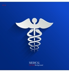 Caduceus Medical Symbol- Backgrond vector