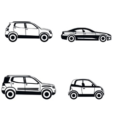 Car type in simple style on white background vector