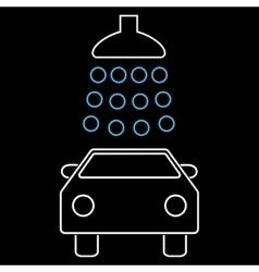 Car Wash Outline Icon vector