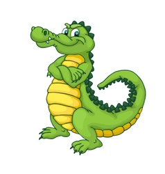 Cartoon alligator vector