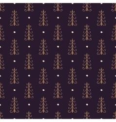 Christmas trees vintage seamless pattern vector