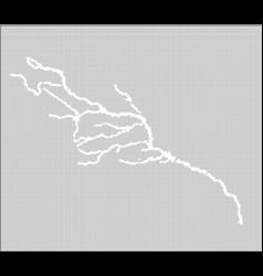Colorado halftone river map vector