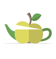 Conceptual apple teapot vector