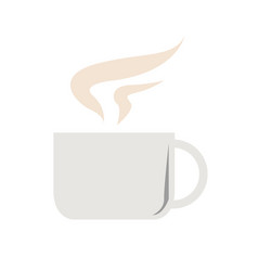 cup of hot drink simple flat vector image