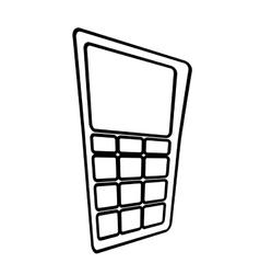 Dataphone credit payment line vector