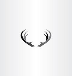 deer horns icon black logo vector image
