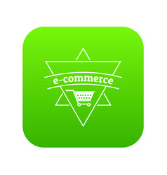 e commerce shop icon green vector image