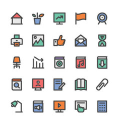 Education Black Outlined Icons 3 vector