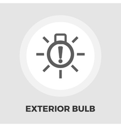 Exterior bulb failure flat icon vector