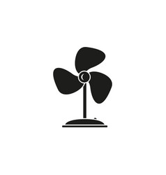 fan electronic black icon vector image
