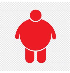 Fat people icon design vector