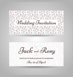 floral style wedding invitation vector image