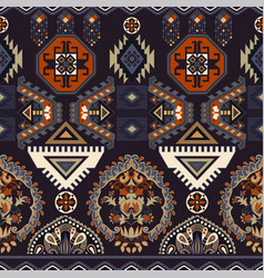 folk ornamental seamless pattern geometric ethnic vector image