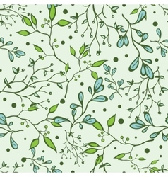 Forest Braches Green Drawing Seamless vector image