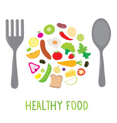 Fruit vegetable healthy food cook ingredient nutri vector