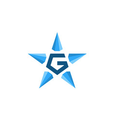 g star diamond logo icon vector image
