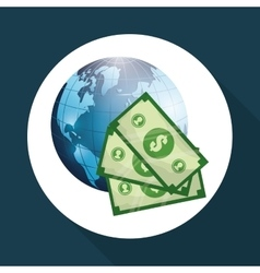 Global economy design financial and money concept vector