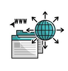 Global information data connection service vector