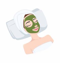 Green tea natural mask design vector