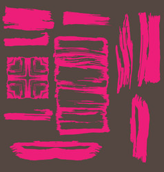 hand drawn brush strokes in format vector image