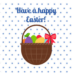 happy easter white greeting card vector image