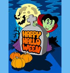 happy halloween theme 5 vector image