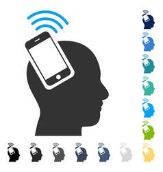 Head smartphone plugin ring icon vector