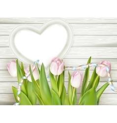 Heart-shaped frame EPS 10 vector