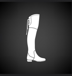 Hessian boots icon vector