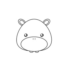 hippo drawing face vector image