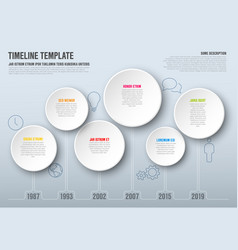 infographic timeline template vector image