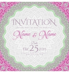 Invitation card design with mandala ornament vector image