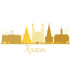 Kazan city skyline golden silhouette vector