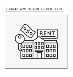 Lease line icon vector