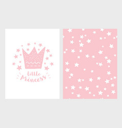little princess hand drawn vector image