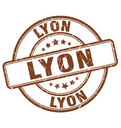 Lyon stamp vector