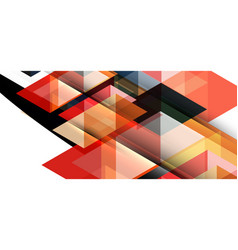 modern mosaic triangle template background great vector image
