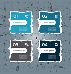 Modern torn paper for infographics vector