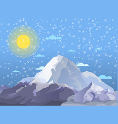 mountaineering and alpine tourism banner vector image