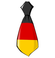 Necktie in national colours of Germany vector