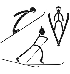 Nordic combined vector image