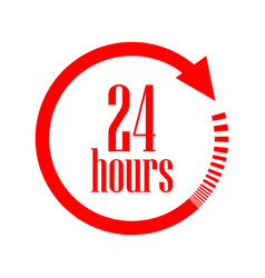 Open 24 hours icon vector