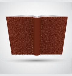 open leather book vector image