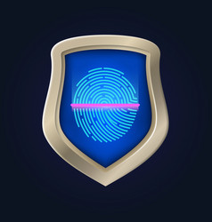 personal safety fingerprint verification and data vector image
