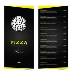 pizza menu food in color vector image
