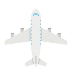 plane flat icon transport and air vehicle vector image