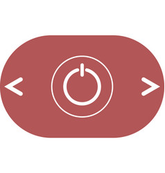 Power sign icon flat design style vector