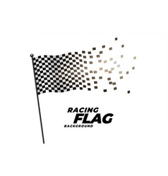 racing checkered flag background design vector image