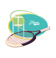 racket and ball to play tennis sport vector image